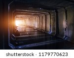 flooded sewer tunnel is... | Shutterstock . vector #1179770623