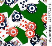 bright casino chips and poker... | Shutterstock . vector #1179771946