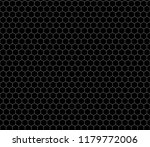 white hexagon grid on black ... | Shutterstock . vector #1179772006