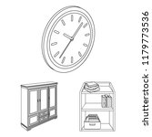 furniture and interior outline... | Shutterstock .eps vector #1179773536