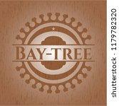 bay tree badge with wooden...   Shutterstock .eps vector #1179782320