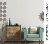 Modern Interior With Dresser...