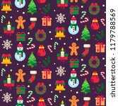 seamless christmas symbols.... | Shutterstock .eps vector #1179788569