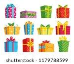 cartoon gift box. christmas... | Shutterstock .eps vector #1179788599