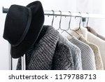 winter wardrobe showcase. white ... | Shutterstock . vector #1179788713