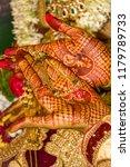 a ritual from a hindu wedding...   Shutterstock . vector #1179789733
