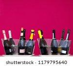 sparkling wine bottles  some... | Shutterstock . vector #1179795640