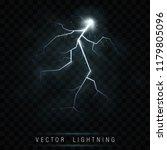 lightning flash bolt. lightning ... | Shutterstock .eps vector #1179805096