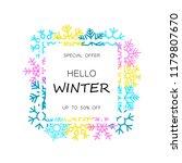 winter sale banner with... | Shutterstock .eps vector #1179807670