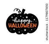 happy halloween carved pumpkin. ... | Shutterstock .eps vector #1179807850