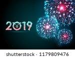 vector holiday festival blue... | Shutterstock .eps vector #1179809476
