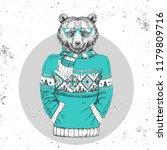 retro hipster fashion animal... | Shutterstock .eps vector #1179809716