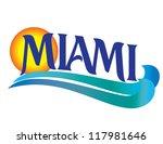 miami international cities... | Shutterstock .eps vector #117981646
