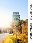 south vermont road sign  fall... | Shutterstock . vector #1179817933