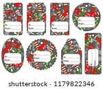 set of christmas and new year... | Shutterstock .eps vector #1179822346