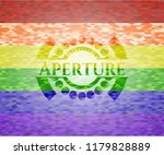 aperture on mosaic background... | Shutterstock .eps vector #1179828889