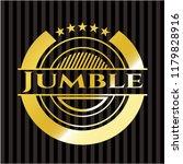 jumble gold shiny emblem   Shutterstock .eps vector #1179828916
