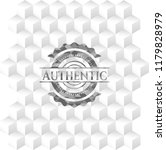 authentic grey badge with... | Shutterstock .eps vector #1179828979