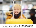 cute happy little boy with big... | Shutterstock . vector #1179850453