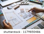 architect designer interior... | Shutterstock . vector #1179850486