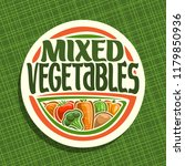 logo for vegetables  sign with...   Shutterstock . vector #1179850936