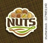 logo for nuts  cut sign with... | Shutterstock . vector #1179851140