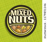 logo for nuts  circle sign with ... | Shutterstock . vector #1179851146
