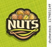 logo for nuts  cut sign with... | Shutterstock . vector #1179851149
