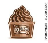 illustration of chocolate ice...   Shutterstock . vector #1179851320