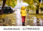 little child walking in the... | Shutterstock . vector #1179853423