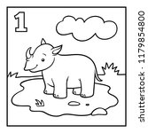 coloring book for children  one ... | Shutterstock .eps vector #1179854800