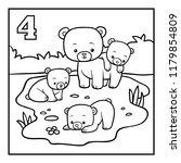 coloring book for children ... | Shutterstock .eps vector #1179854809