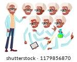 old man vector. senior person.... | Shutterstock .eps vector #1179856870