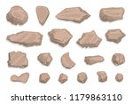 Vector Set. Stones. Top View....