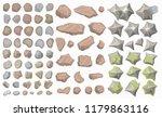 set of landscape elements.  top ... | Shutterstock .eps vector #1179863116