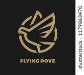 flying dove  logo  symbol on a...   Shutterstock .eps vector #1179863470