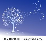 winter background with frosty...   Shutterstock .eps vector #1179866140
