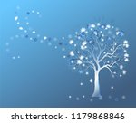 winter background with frosty...   Shutterstock .eps vector #1179868846