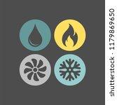4 elements flat vector icons... | Shutterstock .eps vector #1179869650