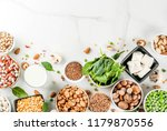 healthy diet vegan food  veggie ... | Shutterstock . vector #1179870556