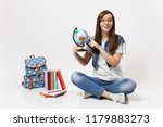 young casual smiling woman... | Shutterstock . vector #1179883273