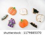traditional halloween baked... | Shutterstock . vector #1179885370