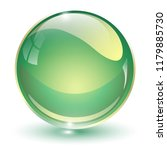 glass sphere  green 3d vector... | Shutterstock .eps vector #1179885730