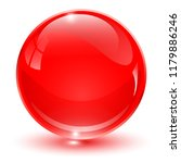 glass sphere  red 3d vector... | Shutterstock .eps vector #1179886246