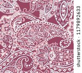 seamless pattern with paisley... | Shutterstock . vector #1179892633