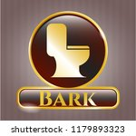 gold emblem with wc toilet... | Shutterstock .eps vector #1179893323