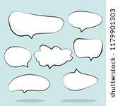 cartoon dialogs cloud. set of...   Shutterstock .eps vector #1179901303