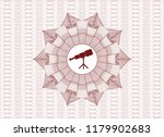 red abstract rosette with... | Shutterstock .eps vector #1179902683