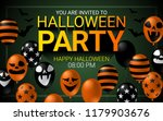 halloween party invitation... | Shutterstock .eps vector #1179903676