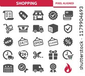 shopping icons. professional ... | Shutterstock .eps vector #1179904693